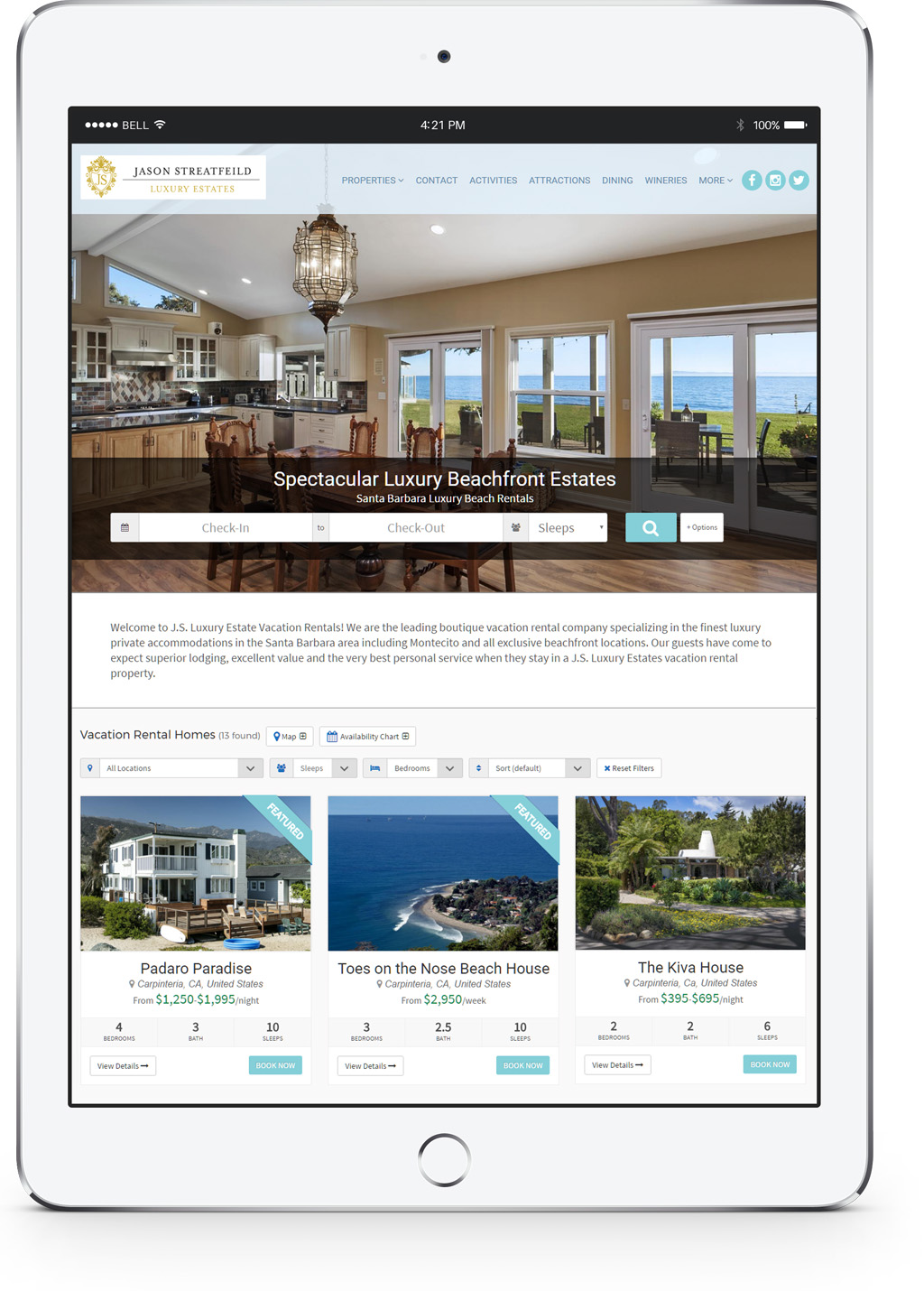 website tools for rental property managers u0026 owners luxury vacation rentals