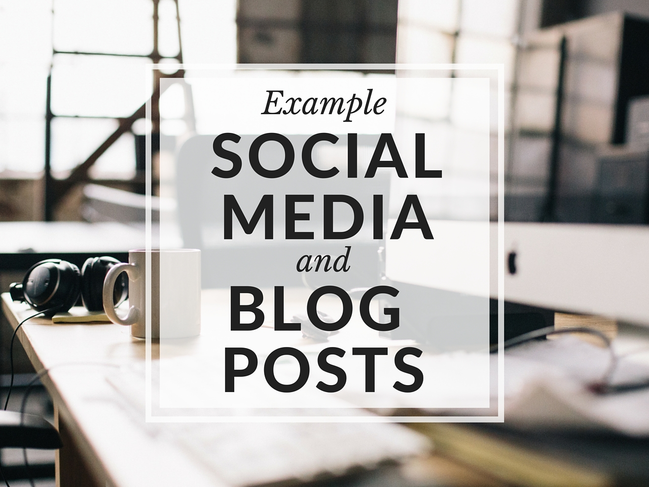 Example Social Media And Blog Posts For Your Rental
